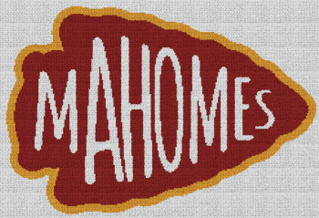 Mahomes Arrowhead - Single Crochet Written Graphghan Pattern - 03 (250 x 171)