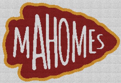 Mahomes Arrowhead - Single Crochet Written Graphghan Pattern - 03 (250 x 171)