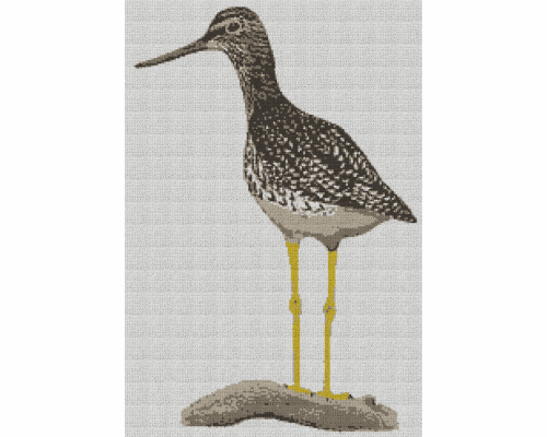 Greater Yellowleg Bird - Single Crochet Written Graphghan Pattern - 02 (170 x 250)